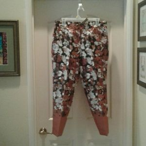 J. Crew silk/wool pull-on trousers, size 12